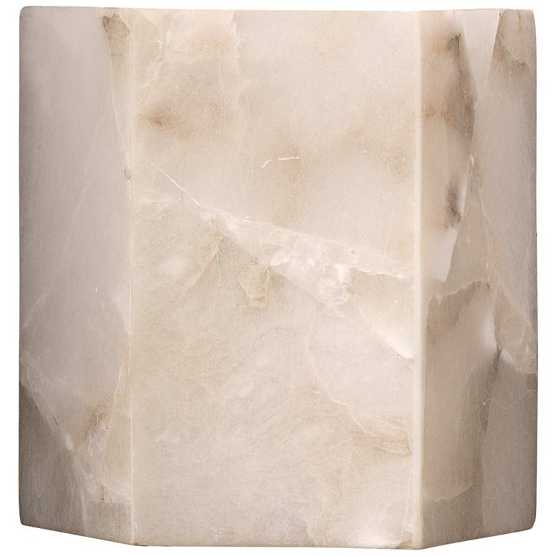"Jamie Young Borealis 7"" High Alabaster Hexagon Wall Sconce"