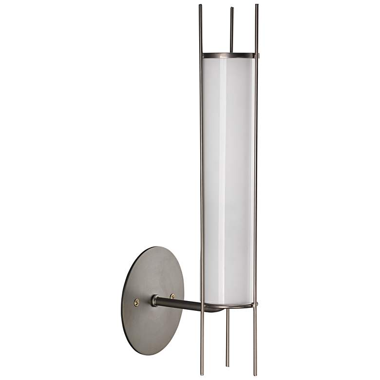 """Jamie Young Italo 15 1/4""""H Gun Metal Cylinder Wall Sconce"""