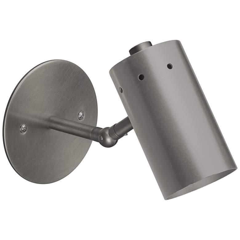 "Jamie Young Milano 4 1/2""H Gun Metal Adjustable Wall Sconce"