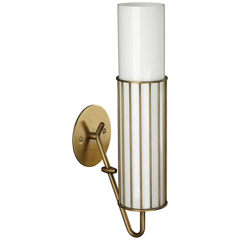 """Jamie Young Torino 17""""H Antique Brass Cylinder Wall Sconce"""