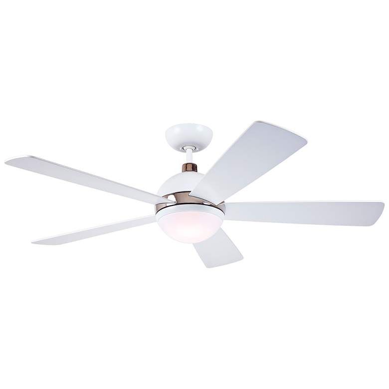 """52"""" Emerson Astor Satin White and Nickel LED Ceiling Fan"""