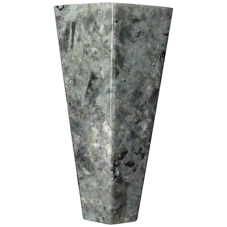 """Borealis 13 1/2"""" High Labradorite Tall Hexagon Wall Sconce"""