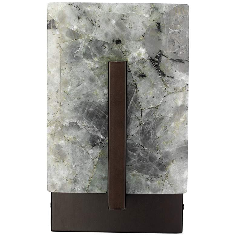 "Halo 10 1/4""H Labradorite and Oil-Rubbed Bronze Wall Sconce"