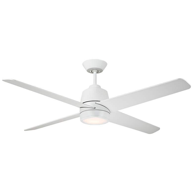 "54"" Emerson Zeke Satin White LED Ceiling Fan"