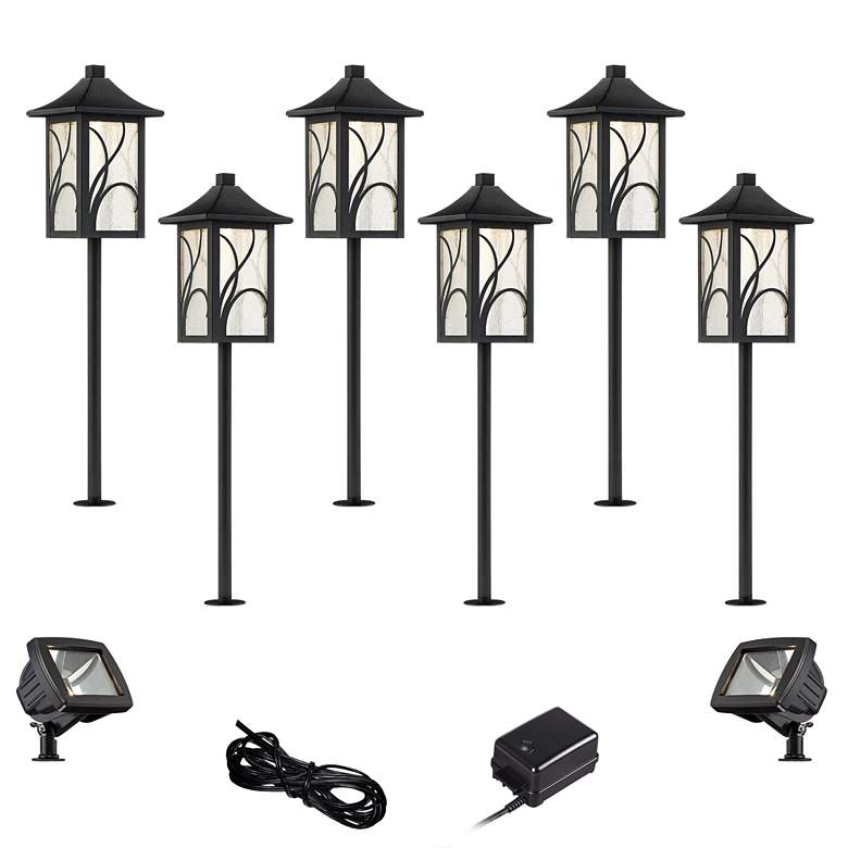 Sleator Textured Black 10-Piece LED Path and Flood