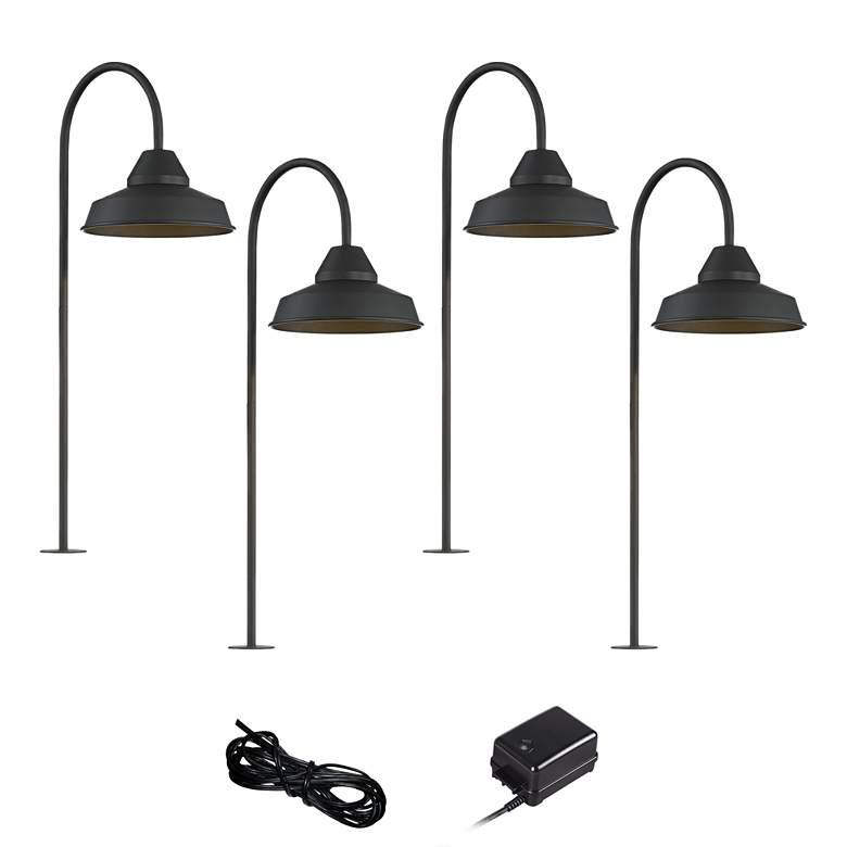Westley Black 6-Piece LED Landscape Path Light Set