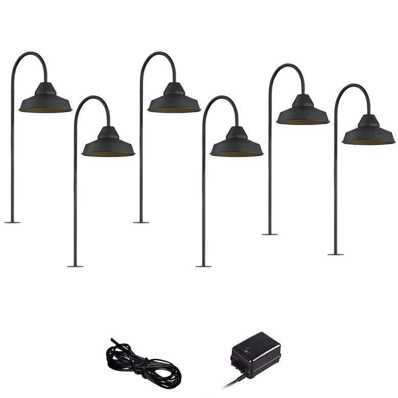 Westley Black 8-Piece LED Landscape Path Light Set