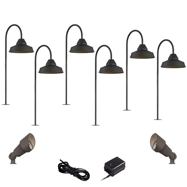 Westley Black 10-Piece LED Landscape Path and Spot Light Set