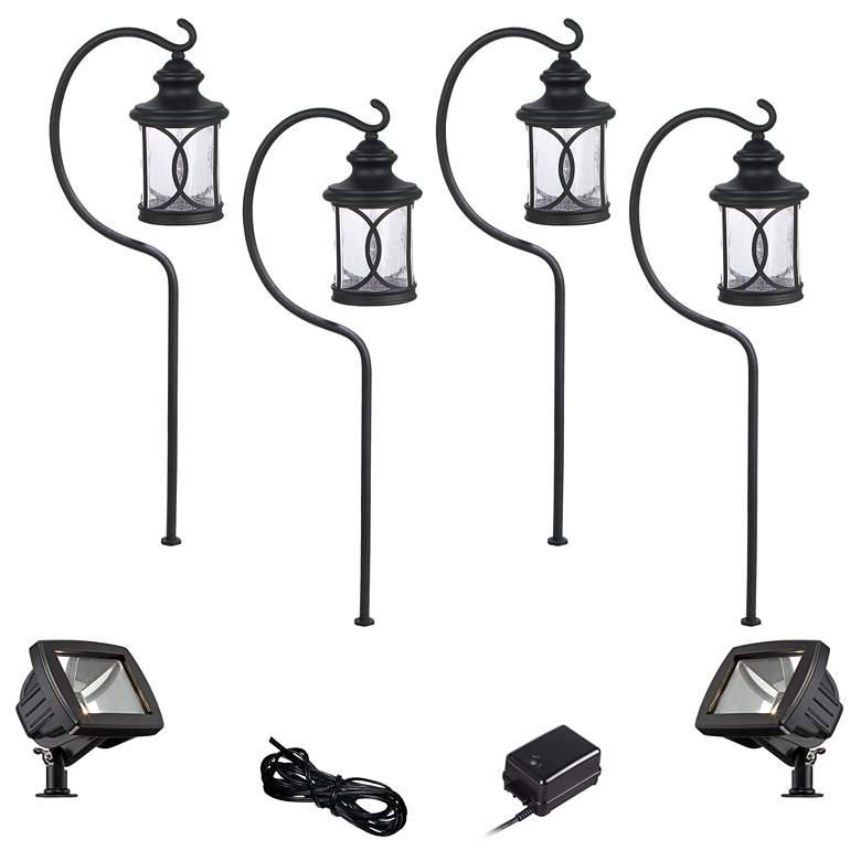Capistrano Black 8-Piece LED Path and Flood Light