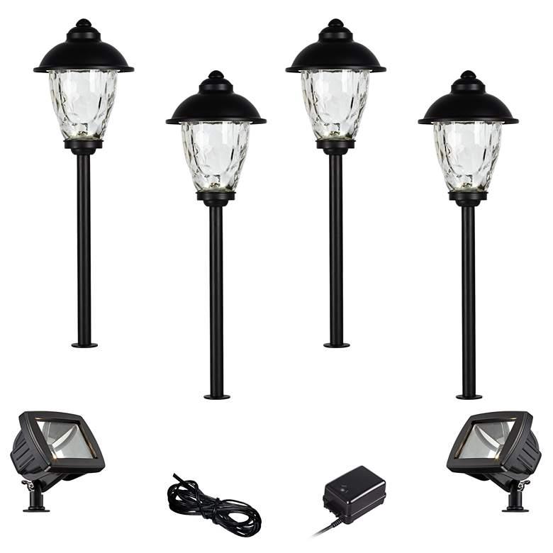 Concord Black 8-Piece LED Landscape Path and Flood Light Set