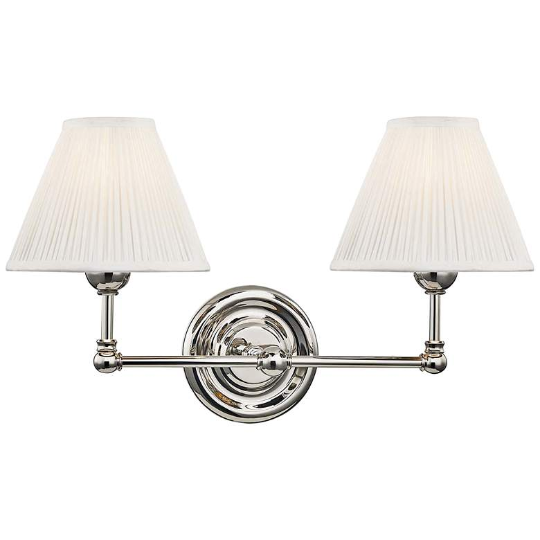 "Classic No.1 10 1/2""H Polished Nickel 2-Light Wall Sconce"