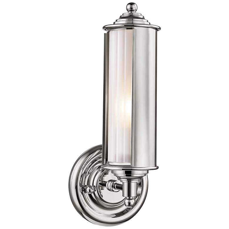"Classic No.1 12 1/4"" High Polished Nickel Tube Wall Sconce"