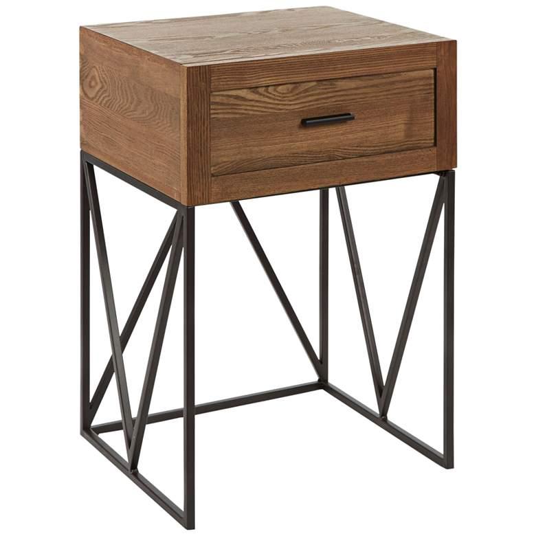 "Bowie 15 3/4"" Wide Espresso 1-Drawer Modern Side Table"