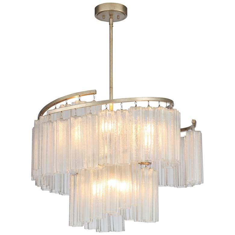"""Maxim Victoria 33""""W Golden Silver and Glass Pendant Light"""