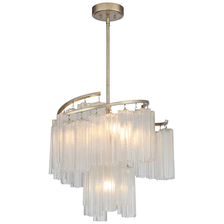 """Maxim Victoria 24 3/4""""W Golden Silver w/ Glass Pendant Light"""