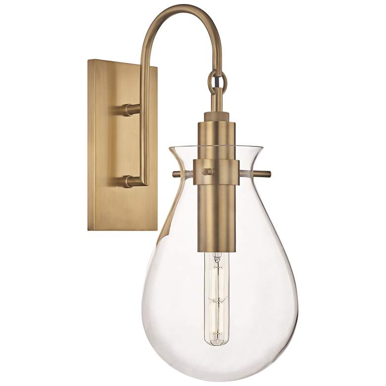 "Ivy 18"" High Aged Brass LED Wall Sconce with Clear Glass"