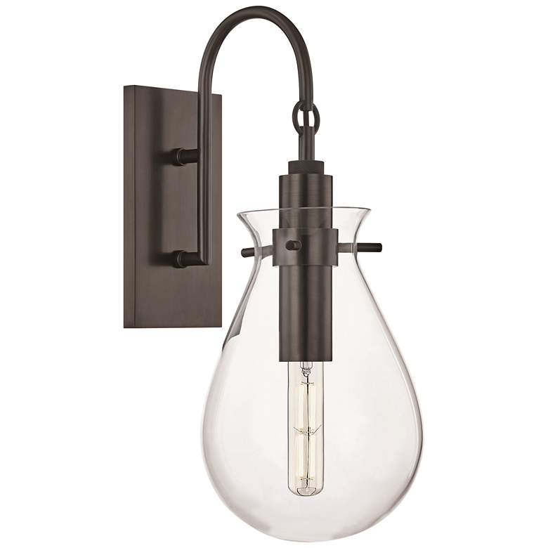 """Ivy 18"""" High Old Bronze LED Wall Sconce with Clear Glass"""