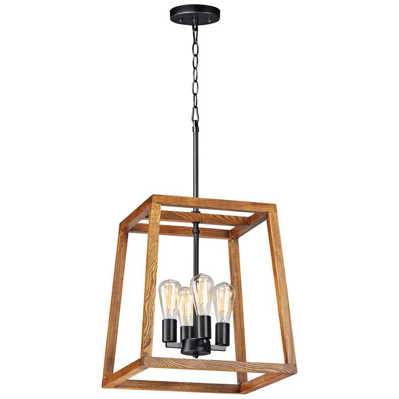 "Maxim Black Forest 16 1/2""W Black and Ashbury Pendant Light"