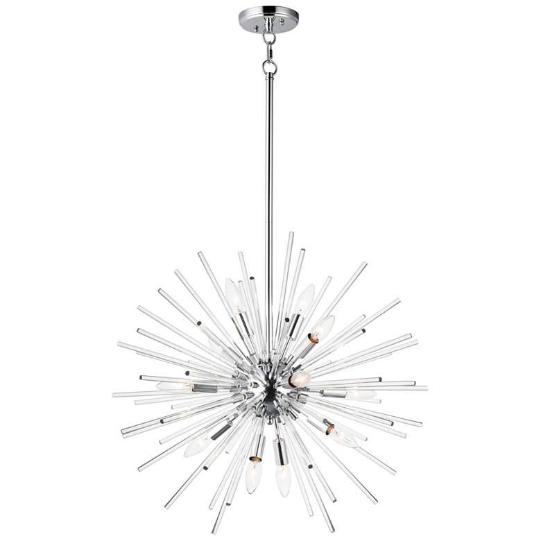 """Maxim Polaris 25"""" Wide Polished Chrome Sputnik Pendant Light"""