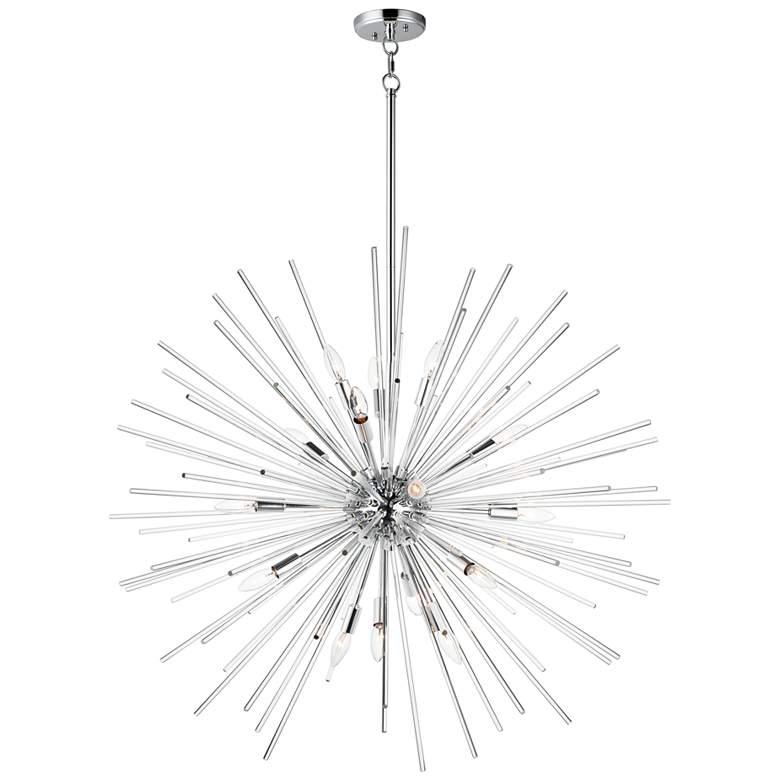 """Maxim Polaris 40"""" Wide Polished Chrome Sputnik Pendant Light"""