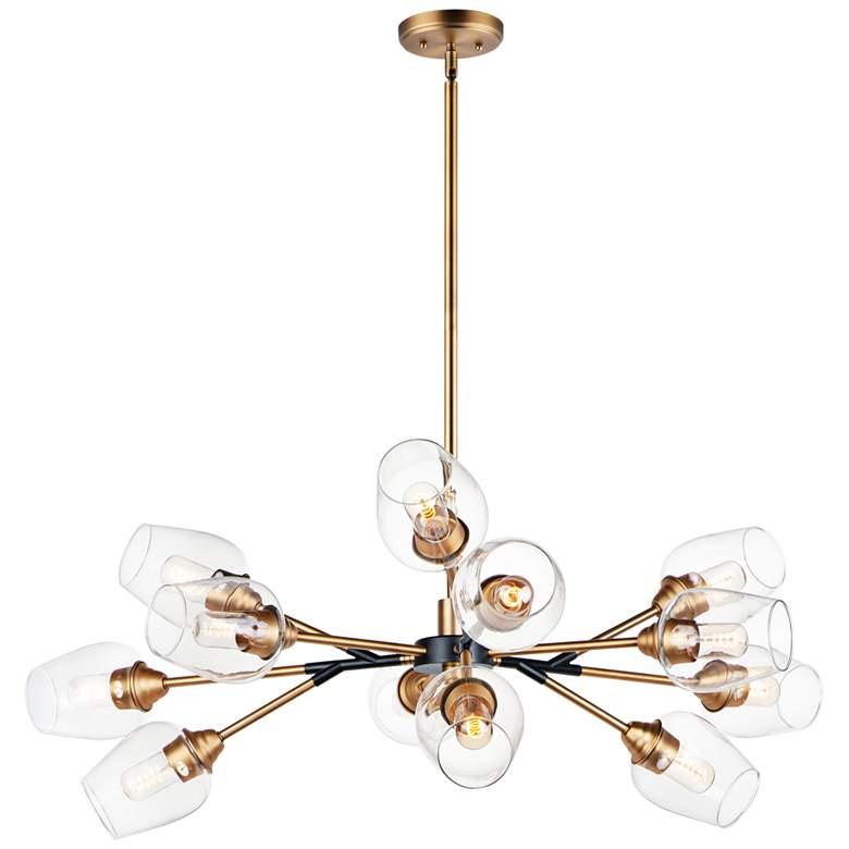"Maxim Savvy 46 1/4""W Antique Brass 12-Light Sputnik Pendant"