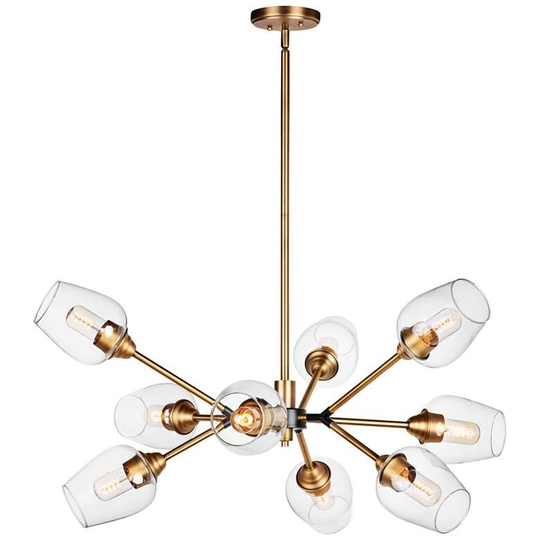 "Maxim Savvy 37""W Antique Brass 9-Light Sputnik Pendant Light"