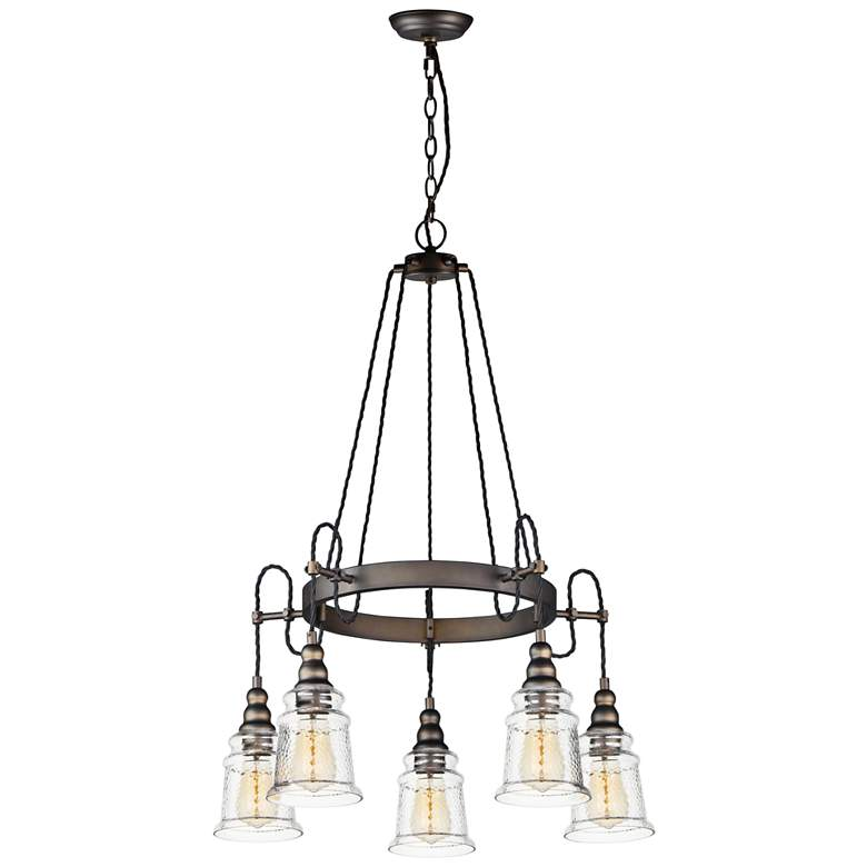 "Maxim Revival 26 1/2"" Wide Oil-Rubbed Bronze 5-Light Pendant"