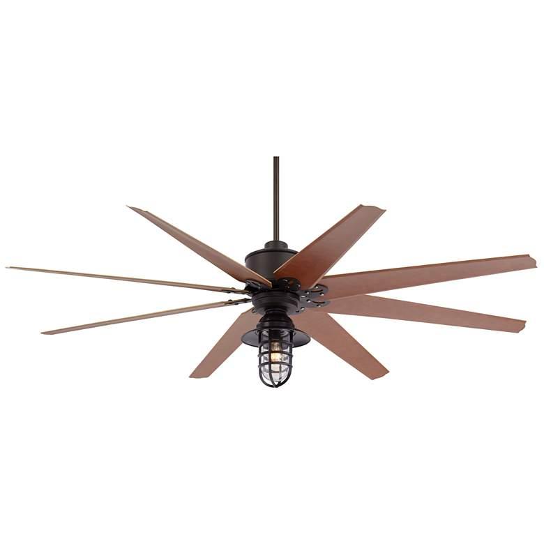 "72"" Predator Bronze Marlowe Cage LED Outdoor Ceiling Fan"