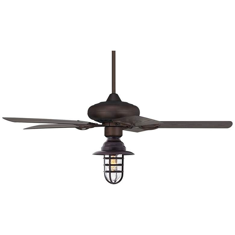 """52"""" Casa Vieja Orb Marlowe Cage Wet LED Ceiling Fan"""