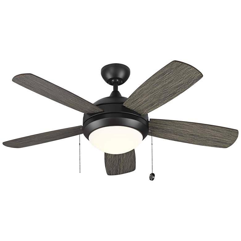 """44"""" Monte Carlo Discus II Aged Pewter LED Ceiling Fan"""