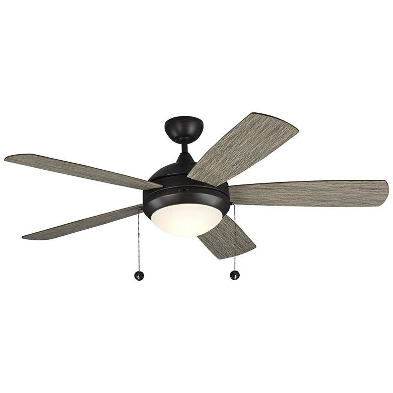 """52"""" Monte Carlo Discus Aged Pewter LED Ceiling Fan"""