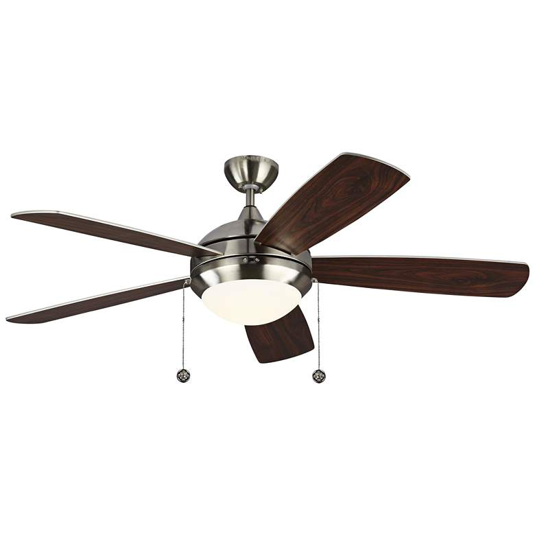 """52"""" Monte Carlo Discus Brushed Steel LED Ceiling Fan"""