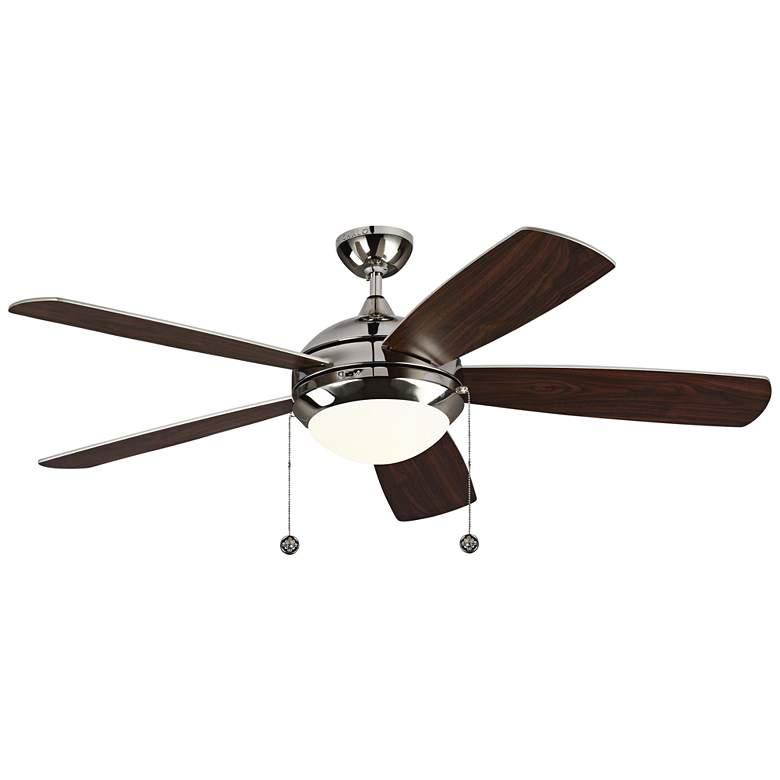 """52"""" Monte Carlo Discus Polished Nickel LED Ceiling Fan"""