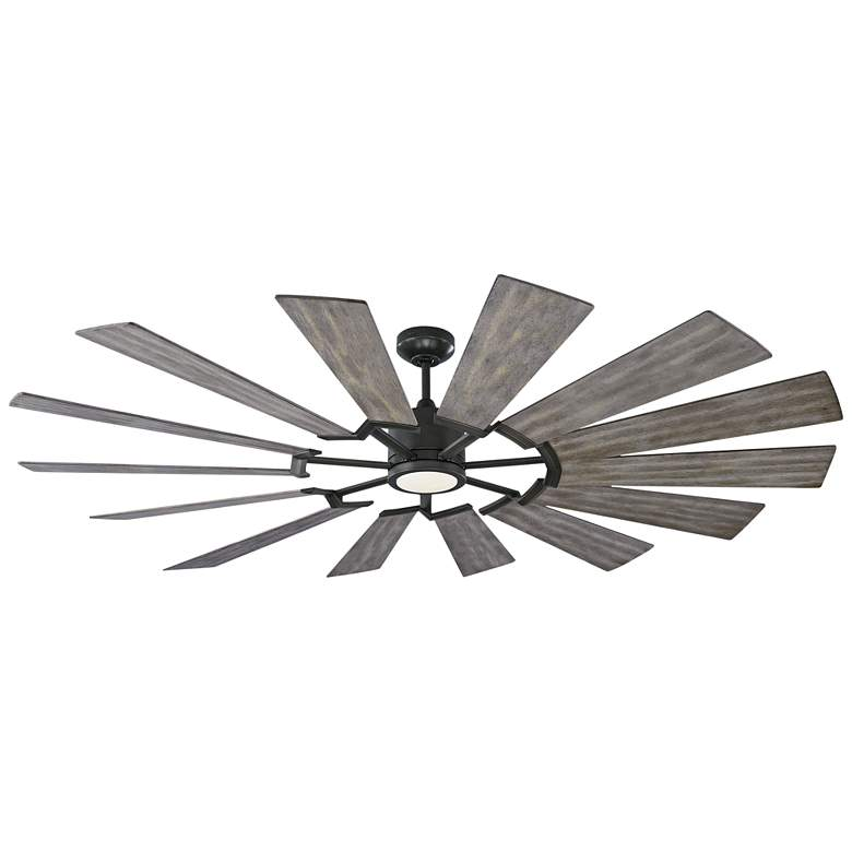 """72"""" Monte Carlo Prairie Aged Pewter LED Ceiling Fan"""