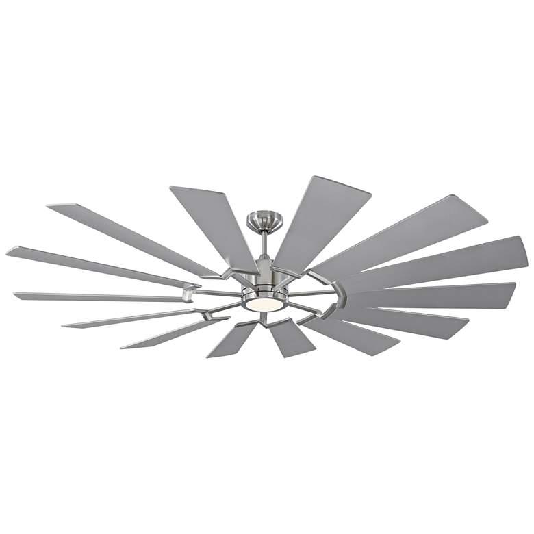 "72"" Monte Carlo Prairie Brushed Steel LED Ceiling Fan"