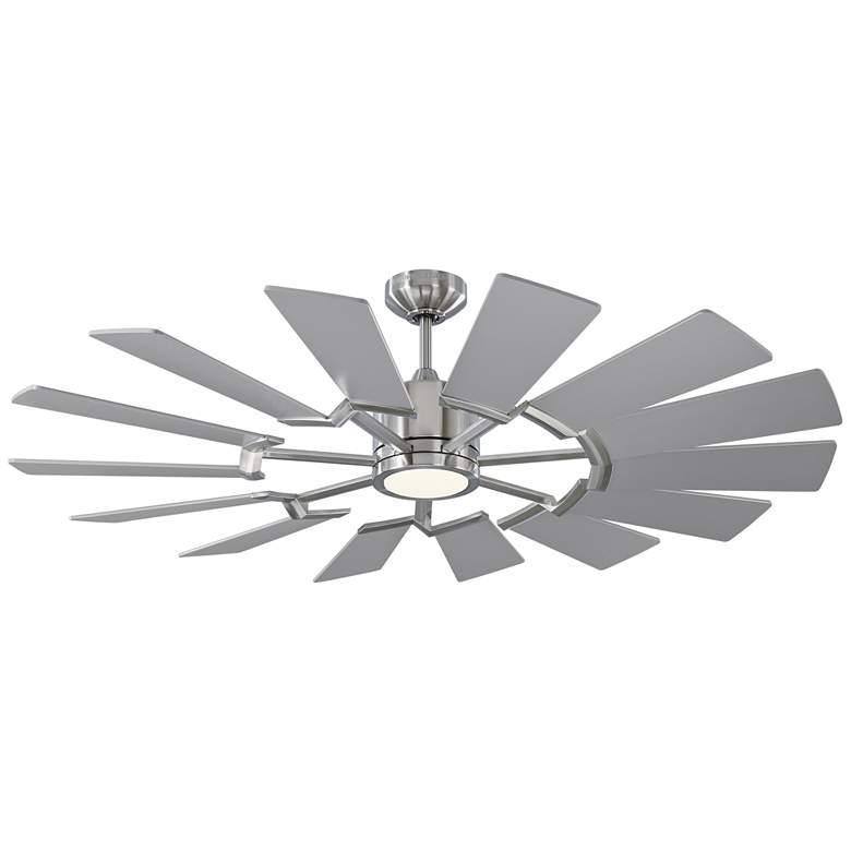 "52"" Monte Carlo Prairie II Brushed Steel LED Ceiling Fan"