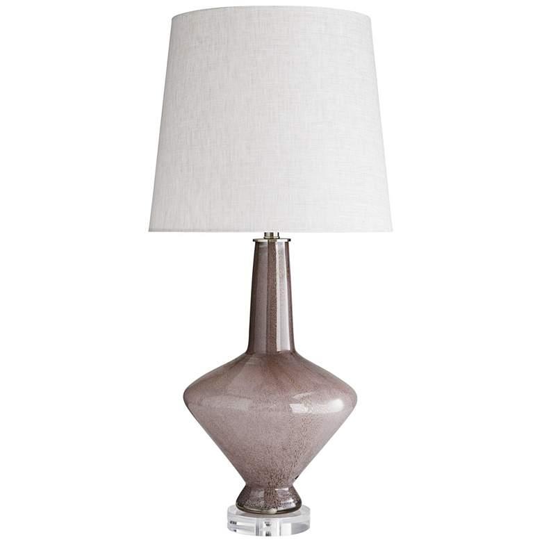 Arteriors Home Shelby Desert Rose Seeded Glass Table Lamp