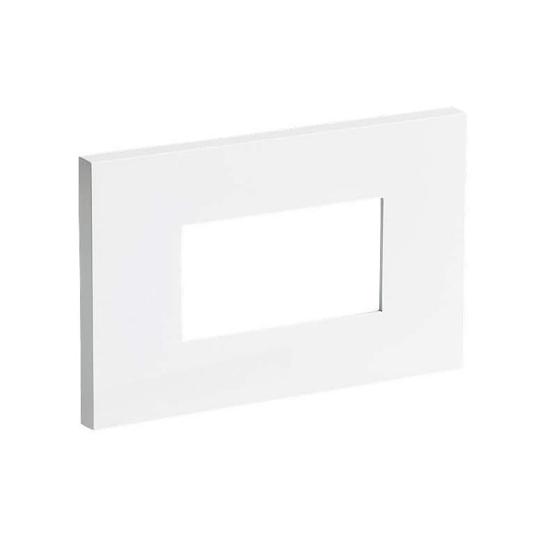 "Vitra Turtle 4 3/4"" Wide White LED Landscape Step Light"