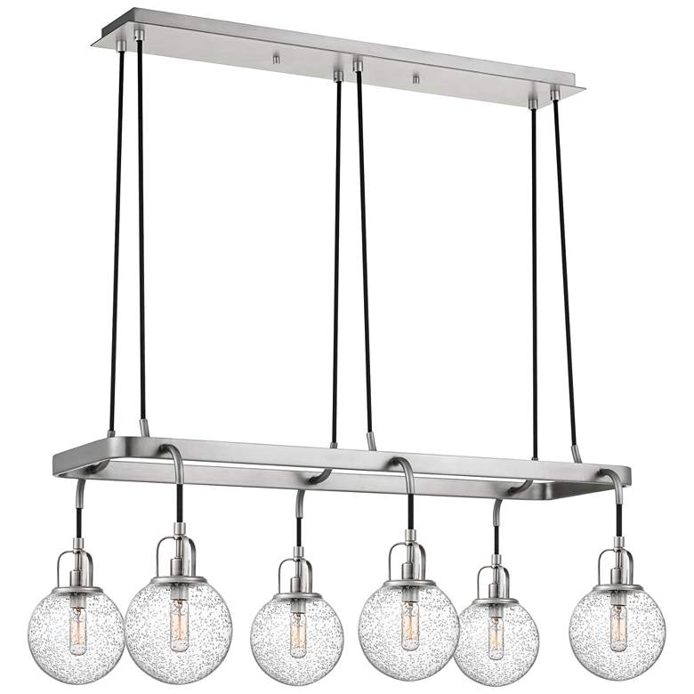 "Hybrid 36""W Antique Nickel Kitchen Island Light Chandelier"