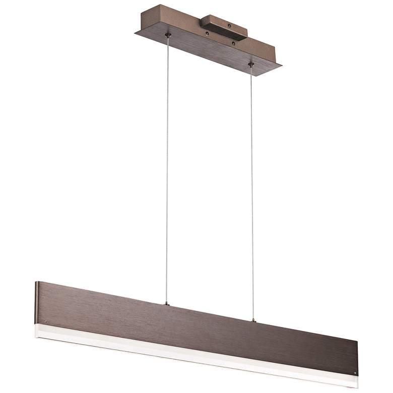 "Quoizel Cutlas 36"" Wide Brushed Bronze LED Island Pendant"