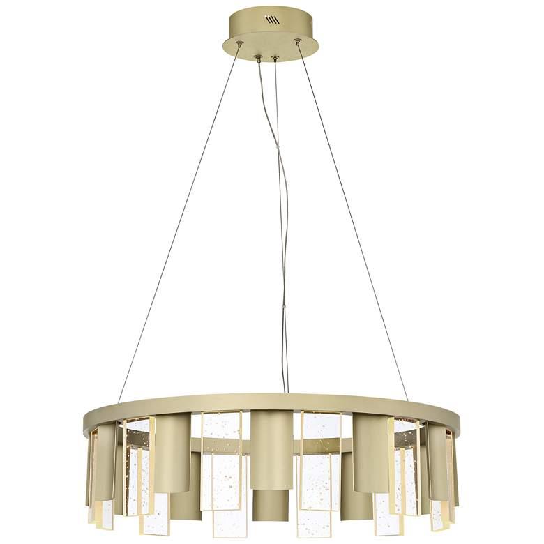 "Quoizel Brendel 23 1/2"" Wide Silken Gold LED Pendant Light"