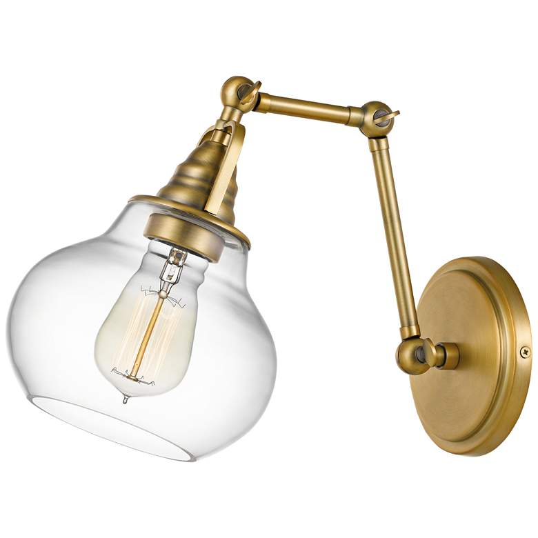 "Quoizel Elmdale 11""H Weathered Brass Adjustable Wall Sconce"