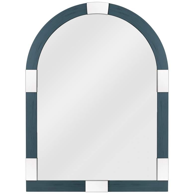 "Quoizel Shepherd Blue 30"" x 40"" Arch Top Wall Mirror"
