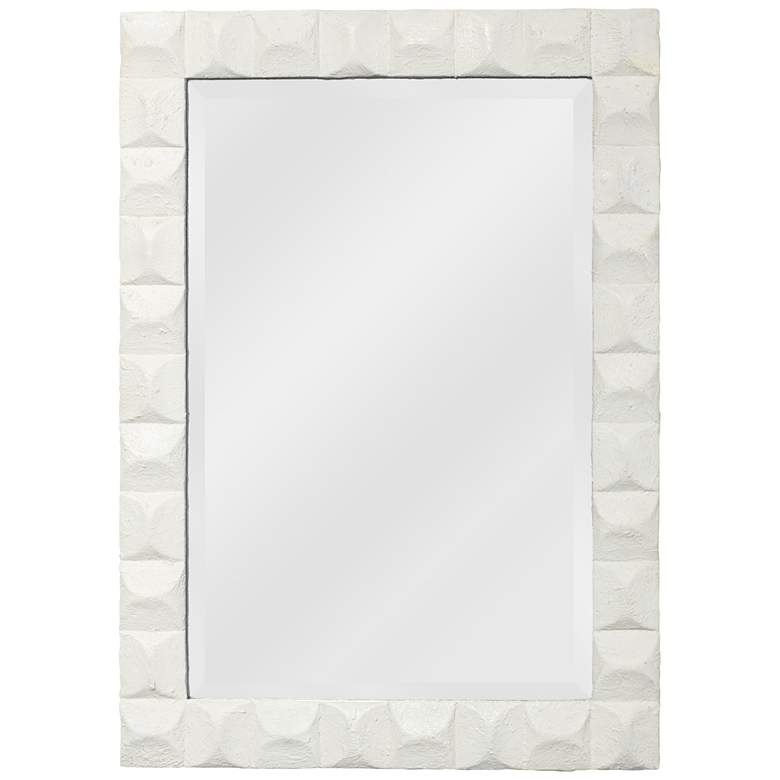 "Jamie Young Astor White Gesso 28"" x 38 1/2"" Wall Mirror"
