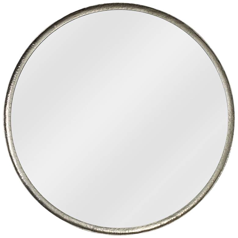 """Jamie Young Refined Silver Leaf 36"""" Round Wall Mirror"""