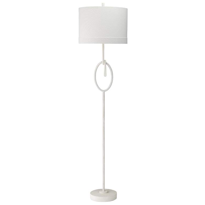 Jamie Young Knot White Gesso and Plaster Floor Lamp