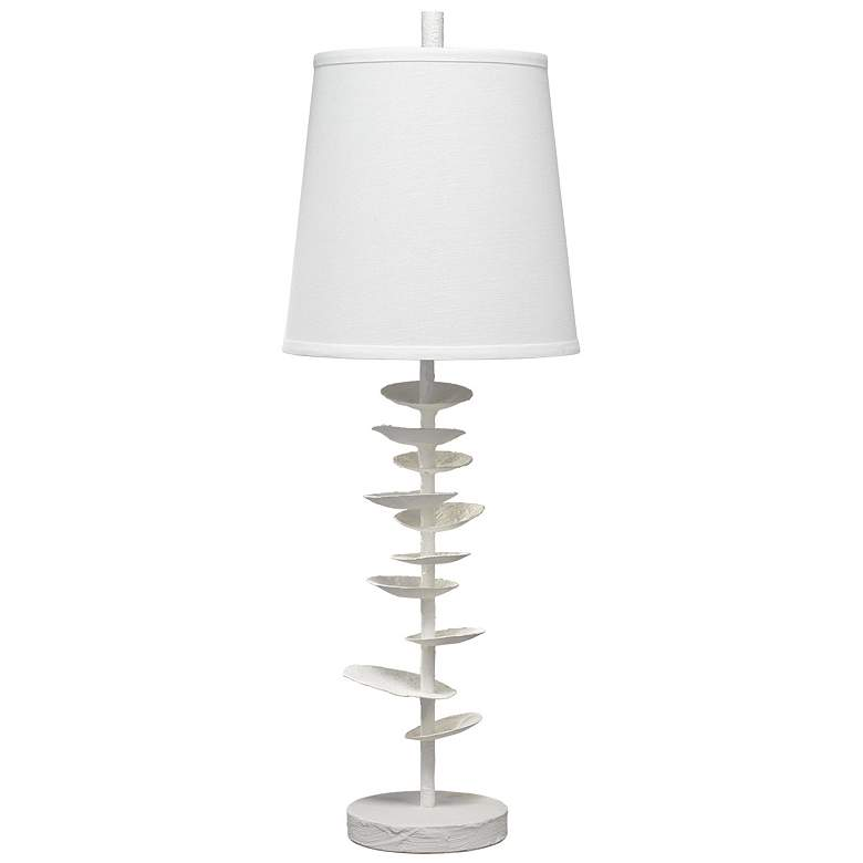 Jamie Young Petals White Gesso and Plaster Table Lamp