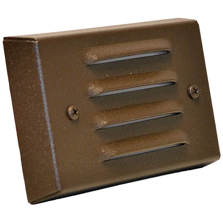 """Weathered Brown 4 3/4"""" Wide LED 4-Louver Step/Brick Light"""