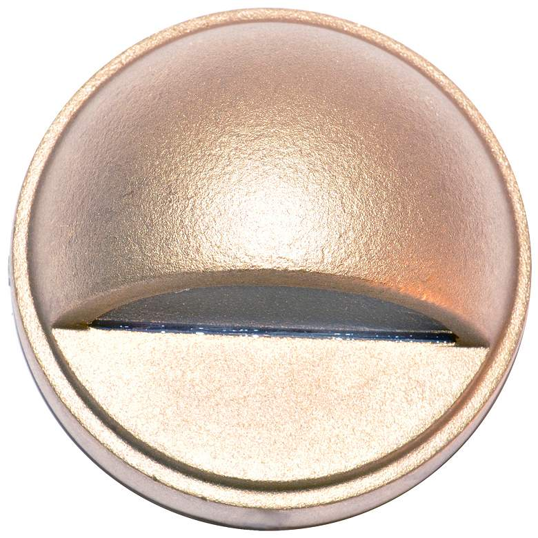 """Hockey Puck 2 3/4""""W Natural Brass LED Surface Step Light"""