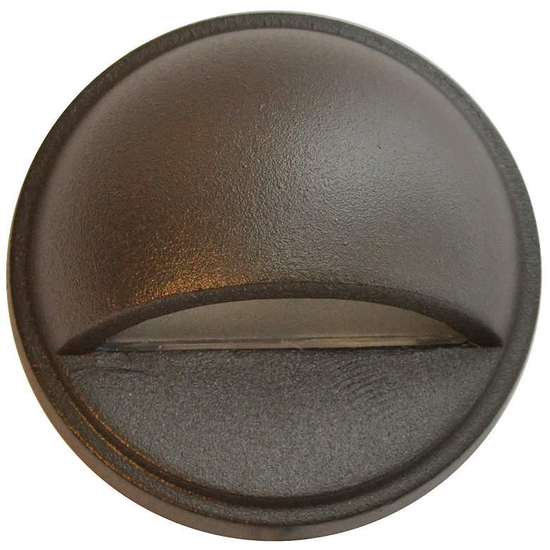 "Hockey Puck 2 3/4""W Bronze Texture LED Surface Step Light"